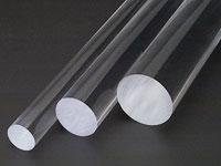 Pręty okrągłe z PLEXI (PMMA CN) bezbarwne